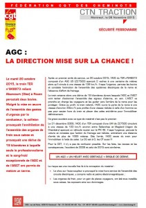 AGC la direction mise sur la chance